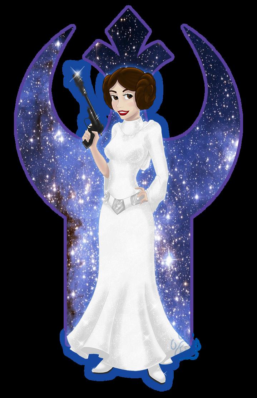 Disney Princess Leia by EmeraldSora