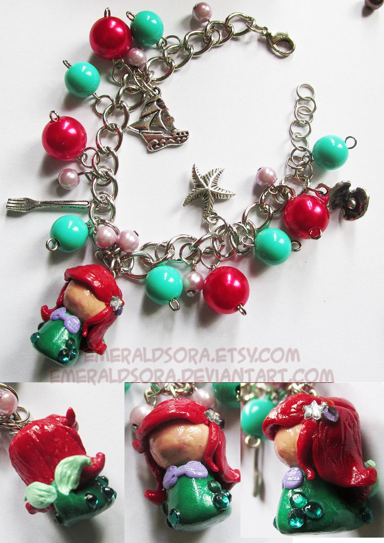 ariel charm bracelet by emeraldsora on deviantart