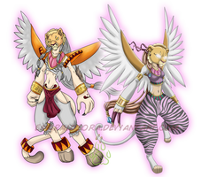 Tefnumon_Before and After by EmeraldSora
