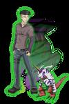TDA_Bryan and Psychemon by EmeraldSora