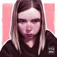 Self portrait by vitamindll