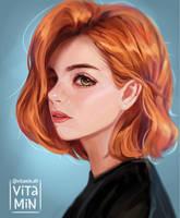 Redhead girl by vitamindll