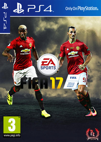 fifa 17 manchester united ps4 cover by panosenglish on. Black Bedroom Furniture Sets. Home Design Ideas