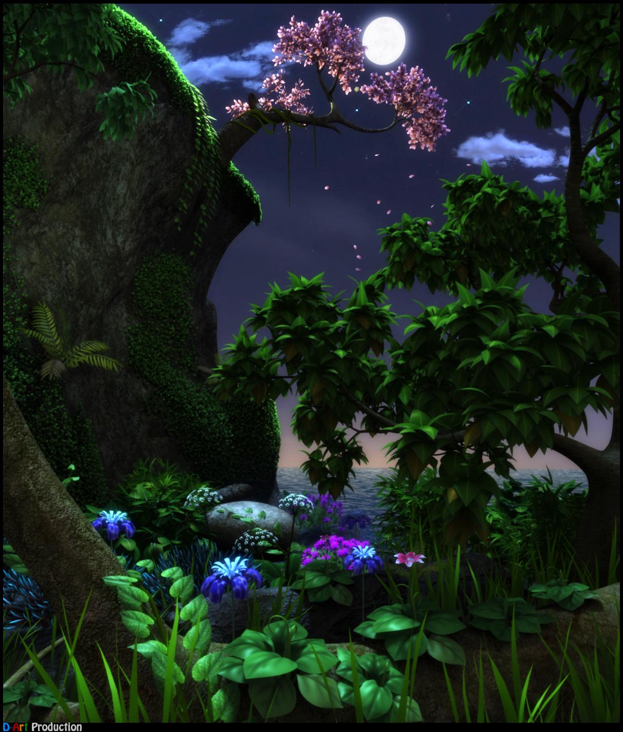 nature at night by dart12001