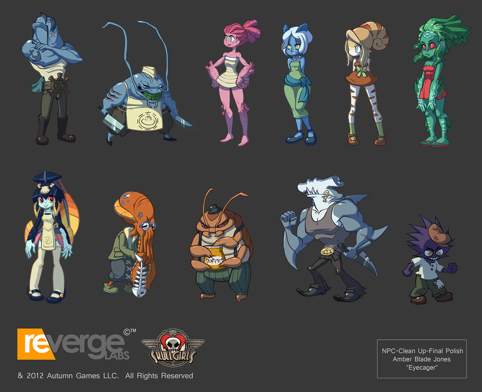Skullgirls-Polished NPCS by Eyecager