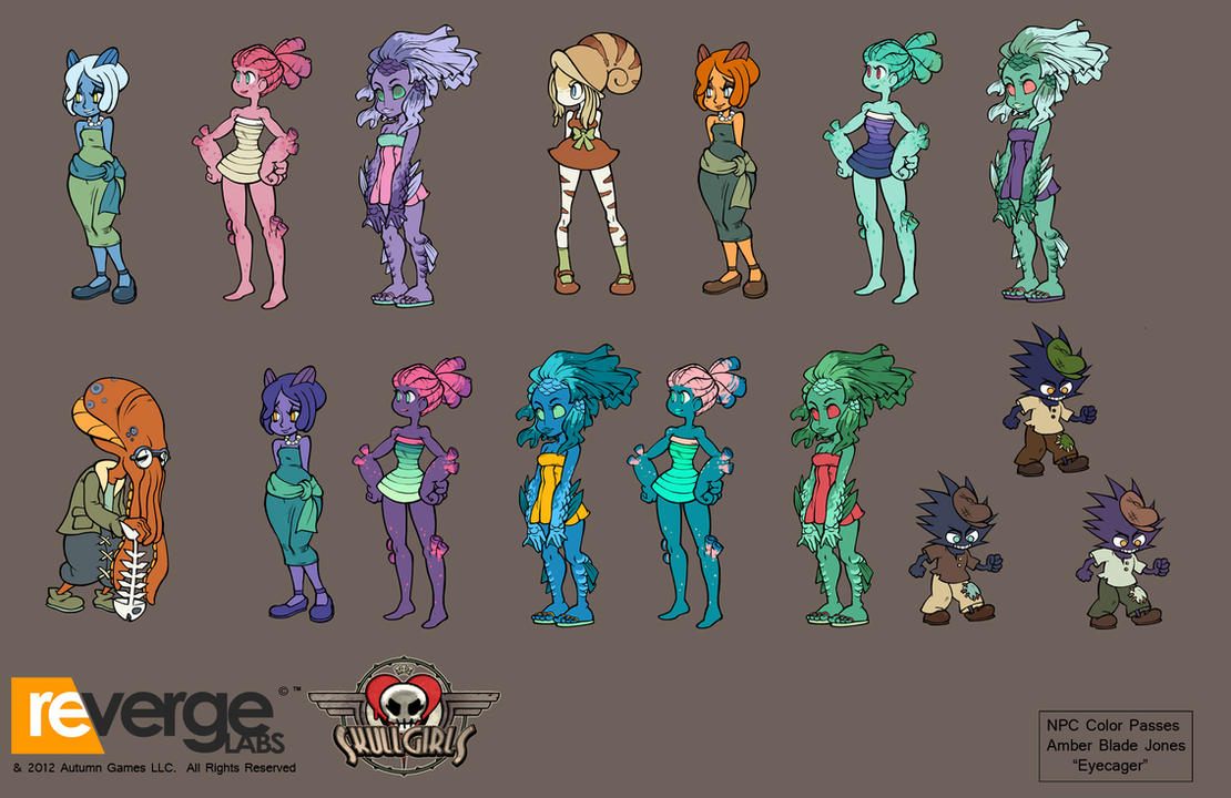Skullgirls-NPC Color Schemes by Eyecager
