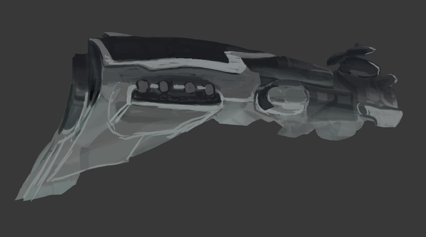 WiP Eve Online Kronos Ship by MissingMonsters