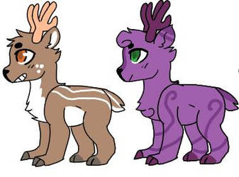My first Closed Species Adopts by Riddler292