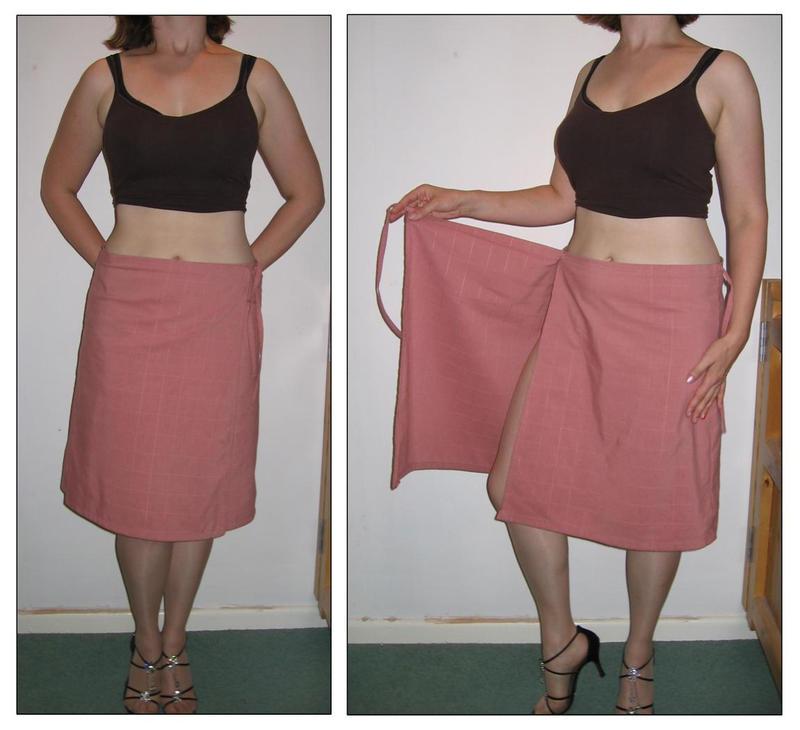 pink wrap-around short skirt by s-e-o on DeviantArt