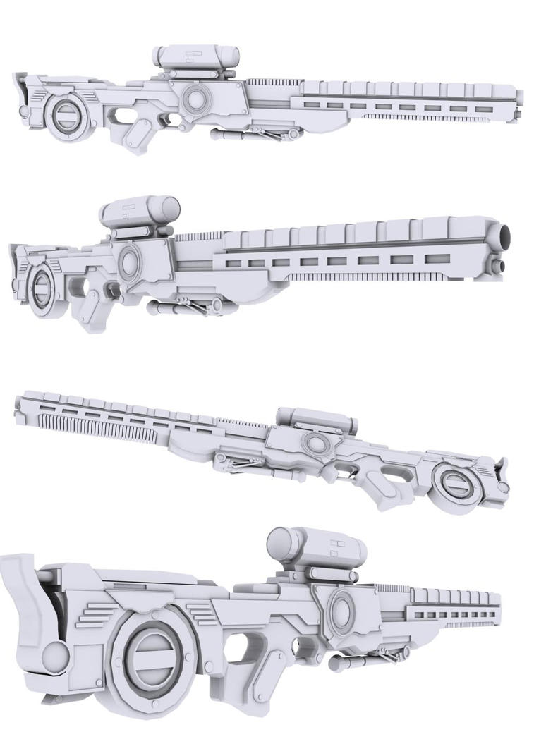 Mkiii rail rifle sniper rifle