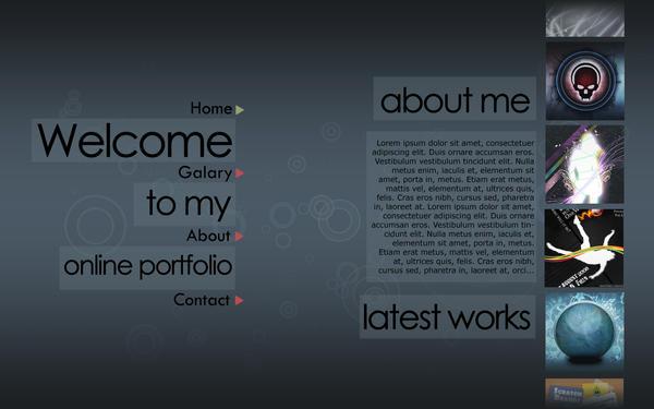 Online Portfolio Design 2 by nahiyankhan on DeviantArt