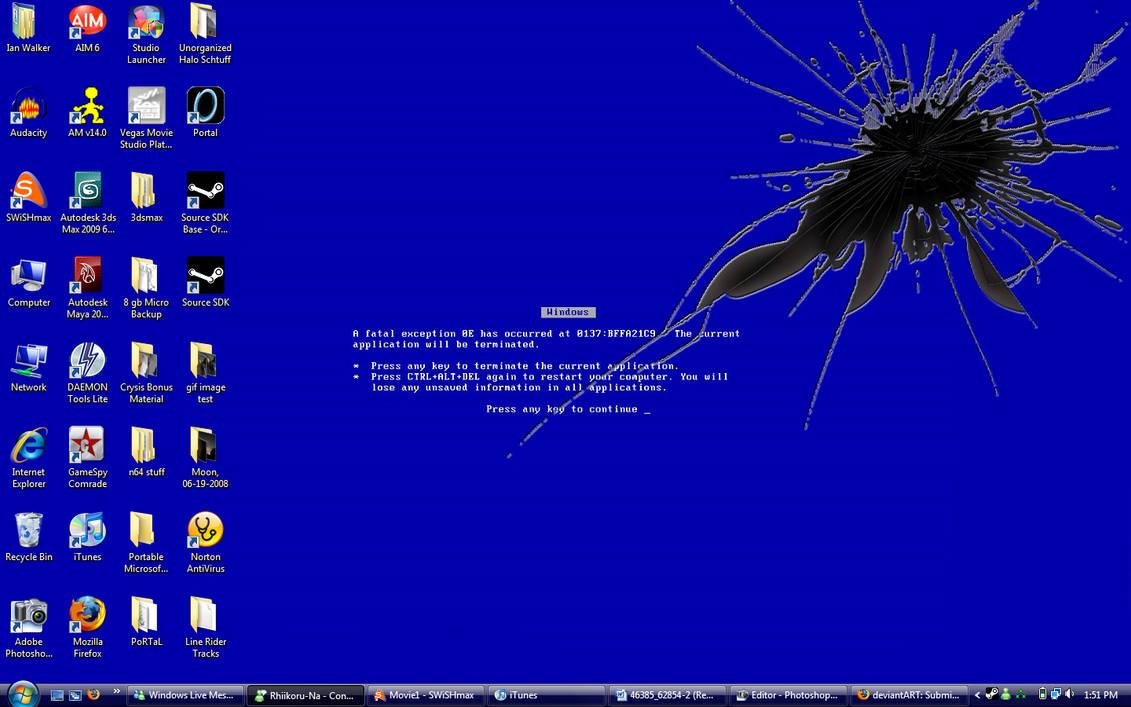 Blue Screen Of Death Wallpaper By Neonomical65 On Deviantart