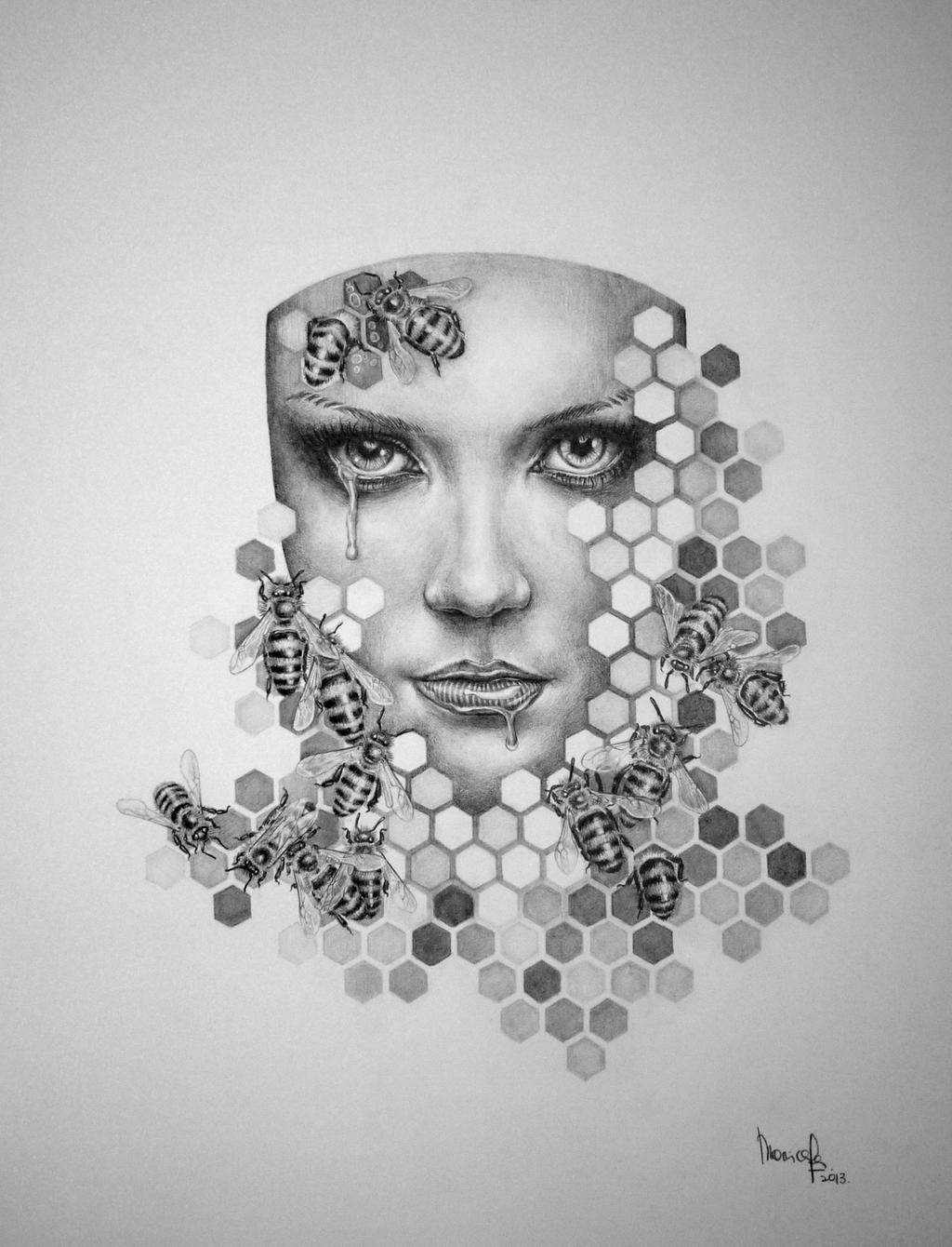 queen bee drawing - photo #33
