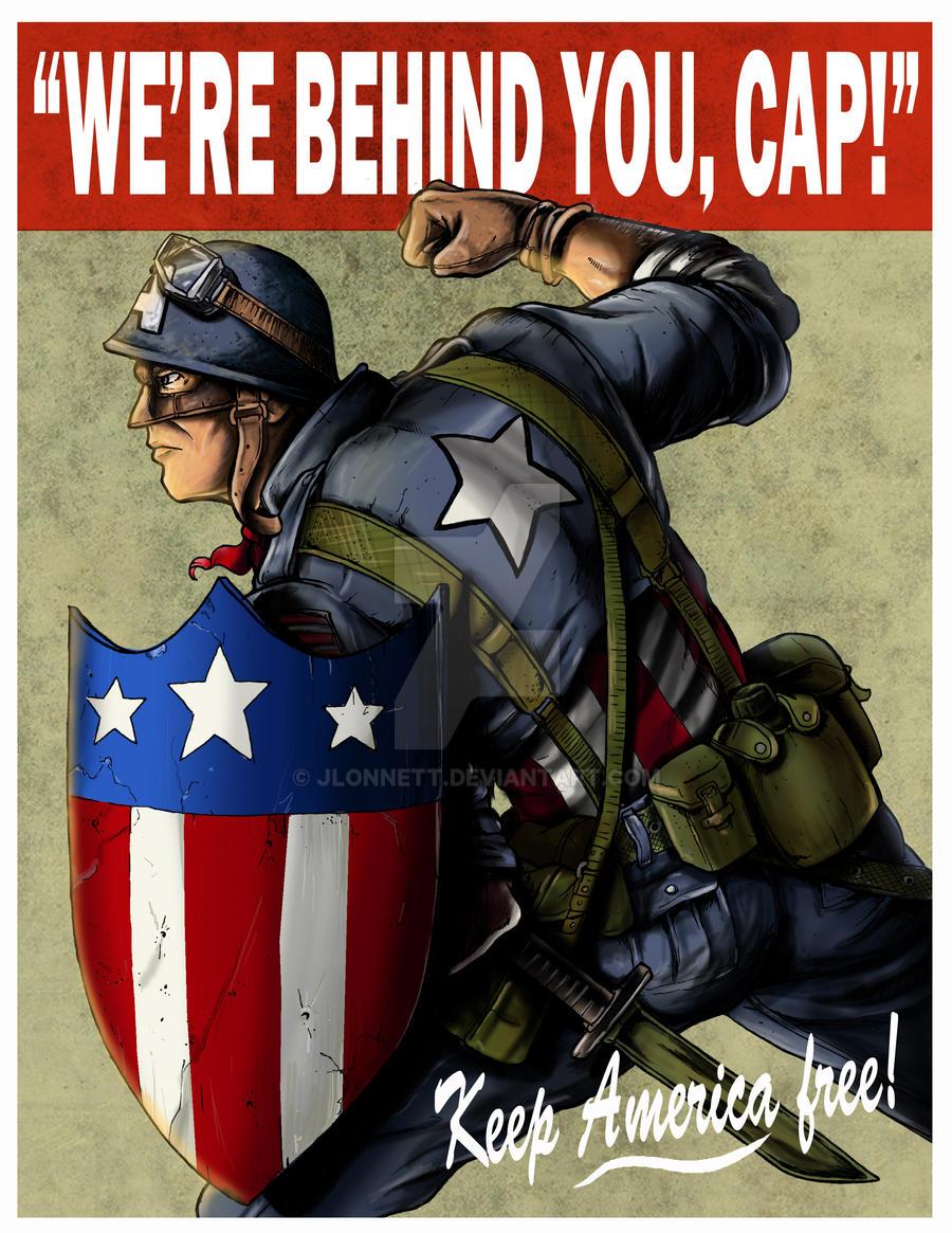 Captain America ww2 poster by jlonnett on DeviantArt