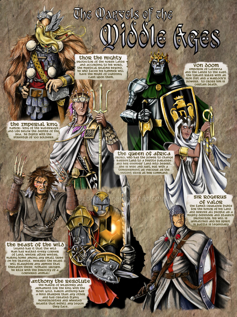 Marvel-Middle ages by jlonnett
