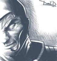 Villain (Sketch) 11-29-12 by DamnEvilDog