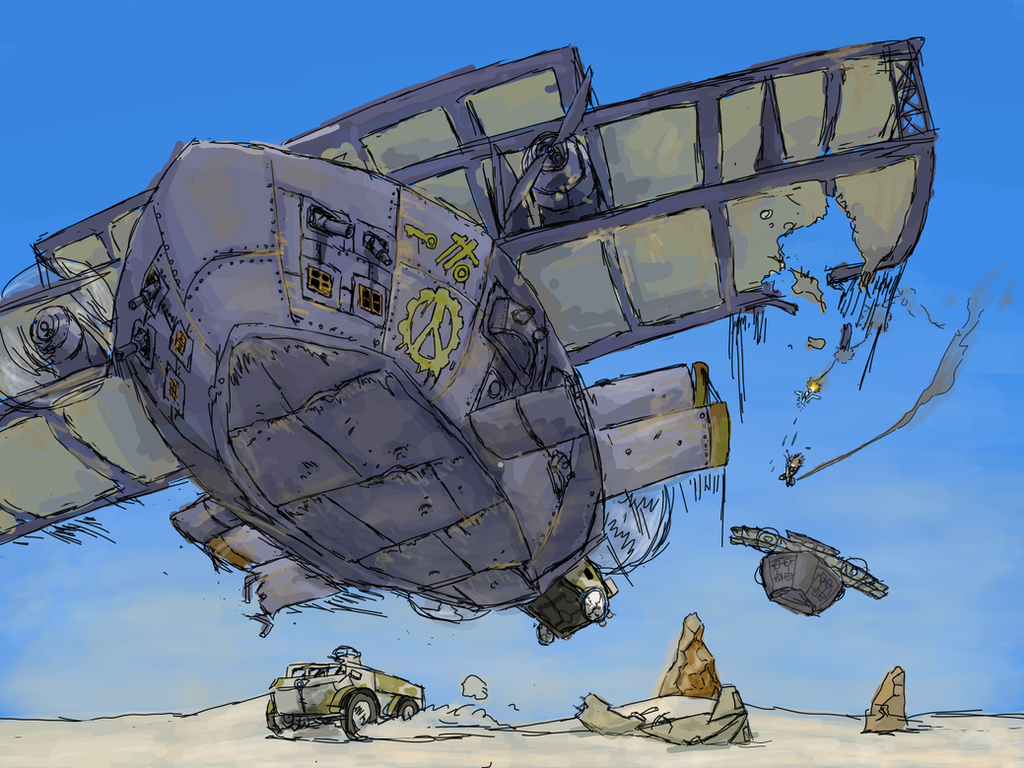 Heavy Dropper plane by NeoNamazu