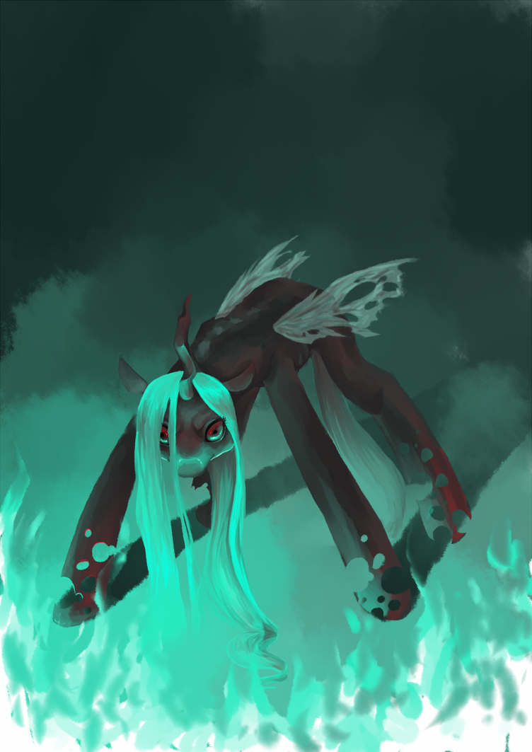 Chrysalis: Changeling Queen by Ringtailed-Sheepdog