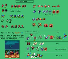 (Second Game) Mega Man 2 Weakness Chart