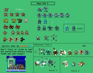 (Fourth Game) Mega Man 4 Weakness Chart