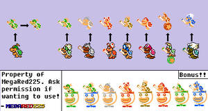 Koopalings and Bowser Jr. SMB1 Style by MegaRed225
