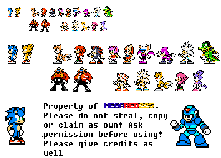 custom sonic sprites mega man style by megared225 on