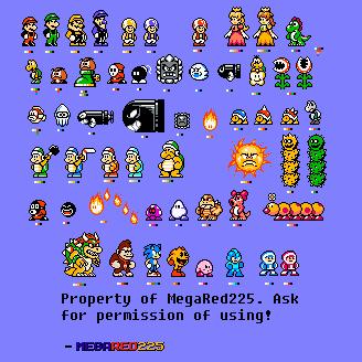 Super Custom Mario Sprites! by MegaRed225 on DeviantArt