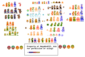 Various Mario Renditions (SMB Style) by MegaRed225