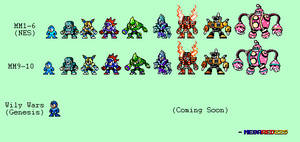 GEAR UP!! MM11 Robot Masters Demake by MegaRed225