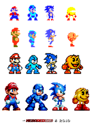 Mascot Pixels - Nintendo x Capcom x SEGA x Namco