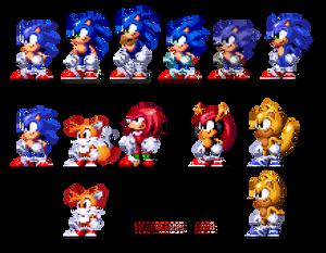 Few Sonic Sprites (CUSTOMARY)