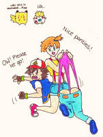 Request - Ash wedgie by Black-Chocobo99