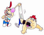 Billy and Mandy Sperg wedgie