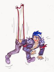 Request - Darius (Academy) hanging wedgie by Black-Chocobo99
