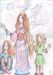 Tamra and daughters - coloured