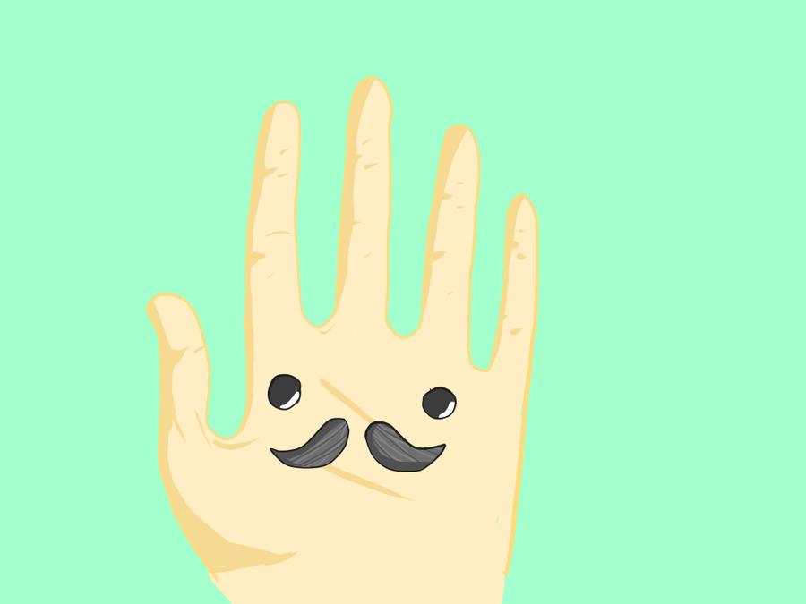 HandStache by GrimStarable