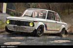 BMW 2002 wet race