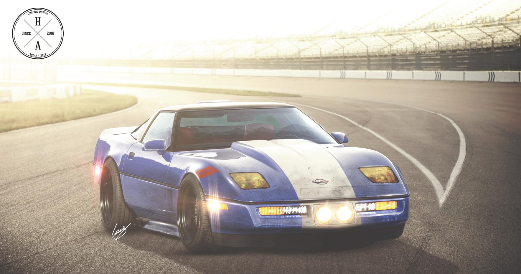 Corvette C4 Race by ilPoli on DeviantArt