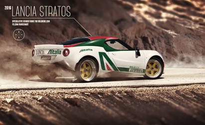 2016 Lancia Stratos speculative render (rear view)