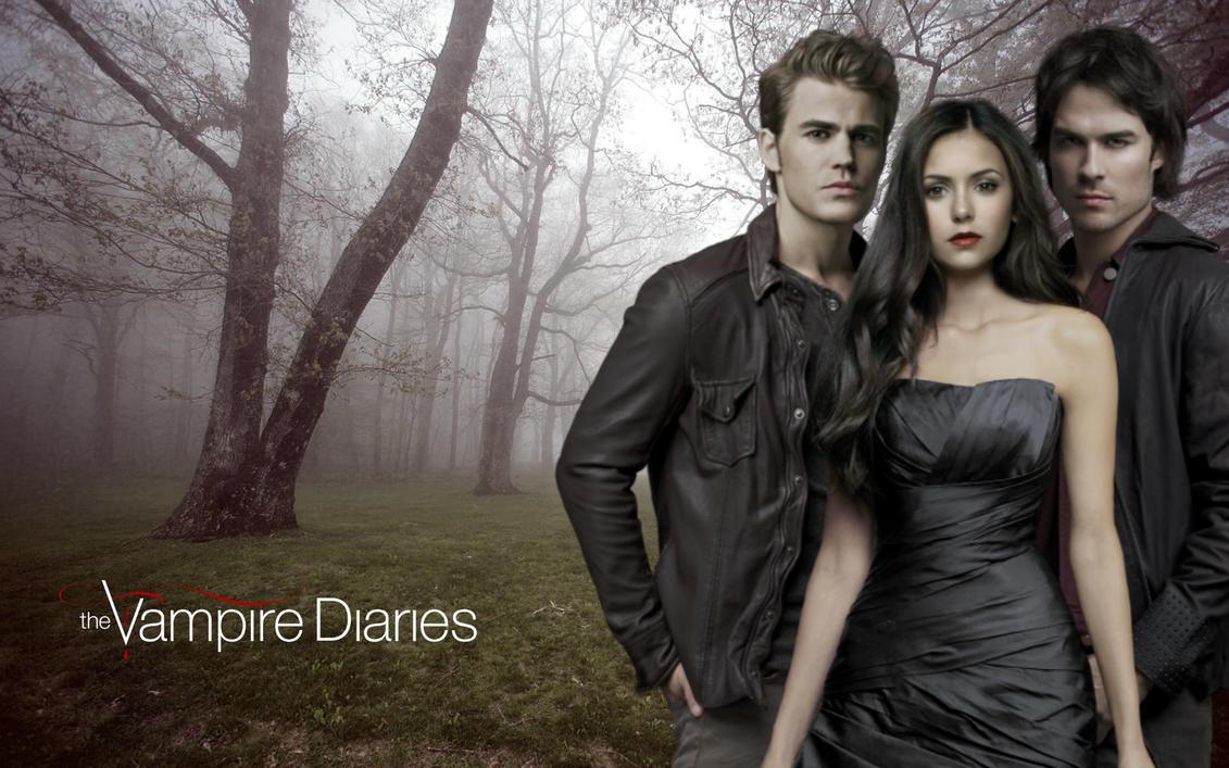 Stefan ~ Elena ~ Damon by WhiteQueensGarden on DeviantArt