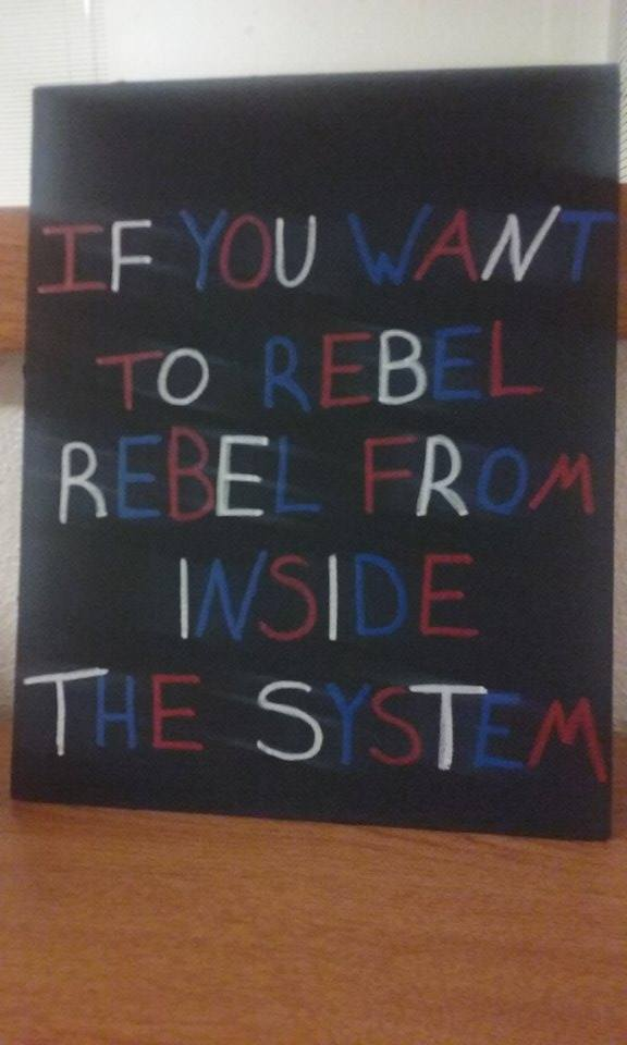 IF YOU WANT TO REBEL, REBEL FROM INSIDE THE SYSTEM by colorguardgirl96