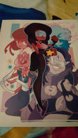 autographed from Garnet from Steven Universe by CoralHealer