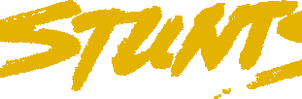 STUNTS Title art [1.X][MS-DOS] by Hudgeba778