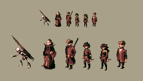 Pixel characters by Thelxion