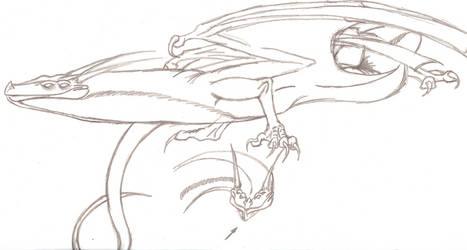 Gulper Dragon -Full Body- by NoNametheGLiTCH