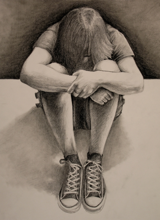 Graphite Self Portrait by Wispmage