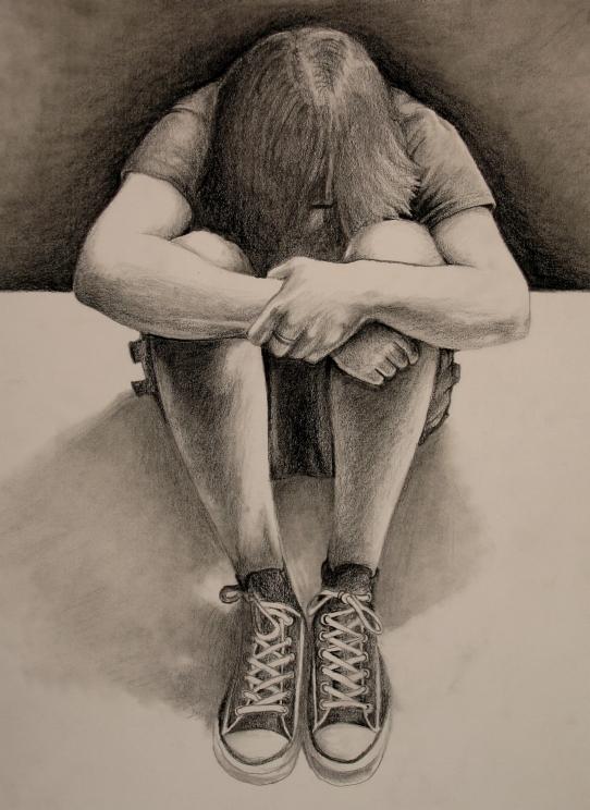 Graphite Self Portrait by Wispmage