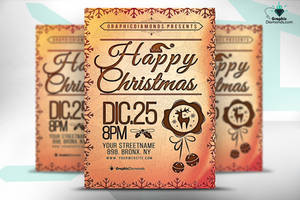 Happy Christmas Flyer Template by GraphicDiamonds