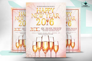 Happy New Year 2016 Flyer PSD by GraphicDiamonds