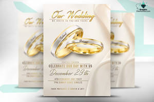 Wedding Flyer PSD Template by GraphicDiamonds